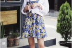 优雅风条纹衬衫长裙+黑色短靴+太阳镜
