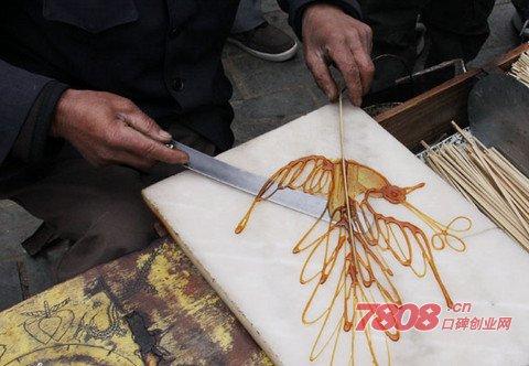中国民间艺术:糖画(机器)商机!
