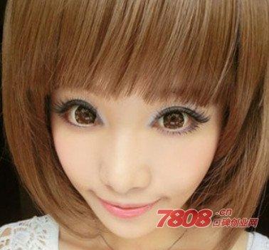 粉粉可爱又清新的粉嫩芭比娃娃大眼妆画法